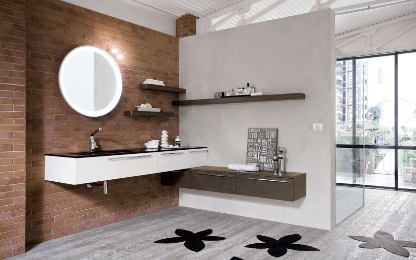 Mobili da bagno in chiave moderna in diverse essenze legno e tonalit di colori laccati opachi - Mobili laccati lucidi graffiati ...