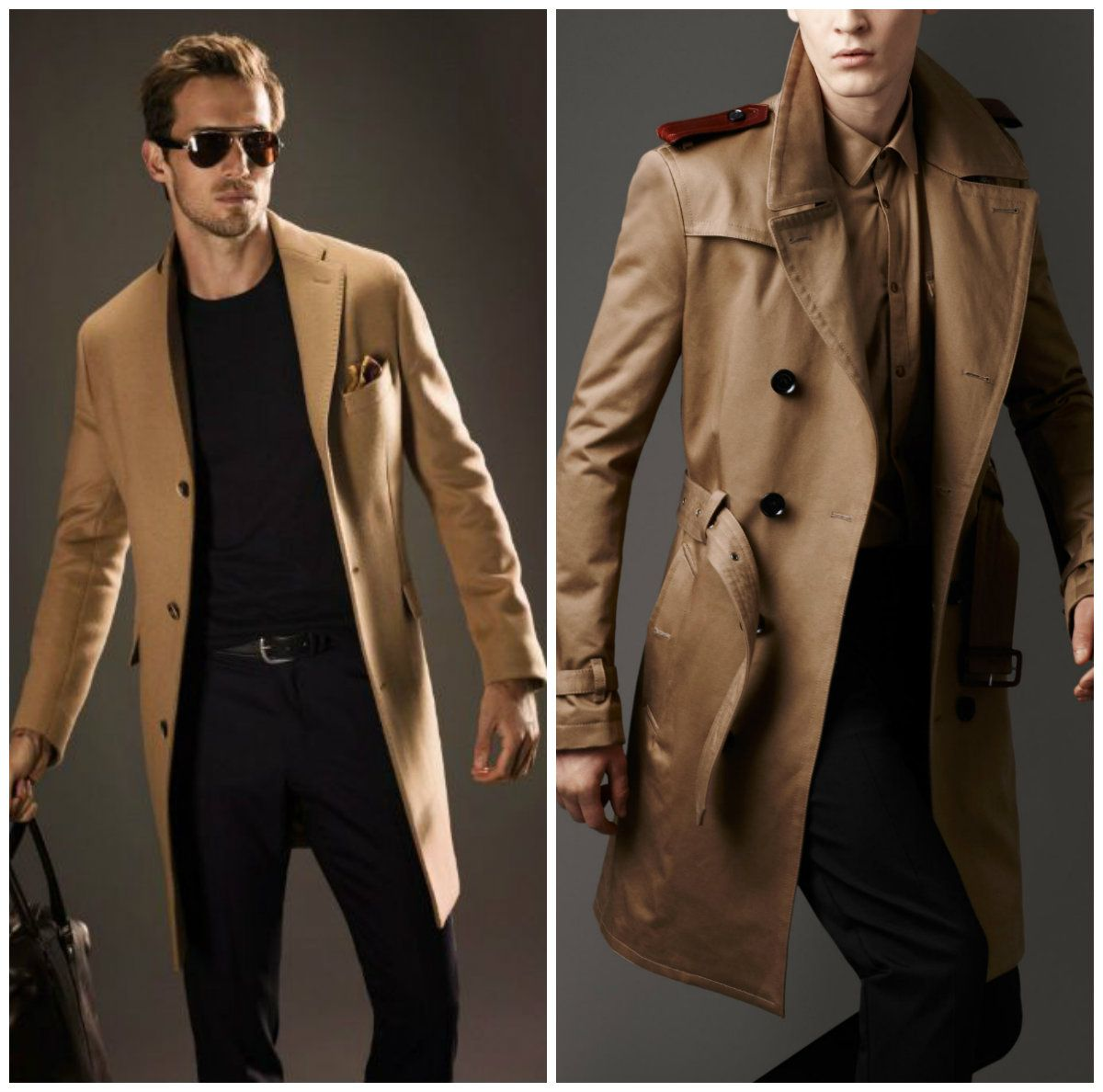 Brown Trench Coat Men Long