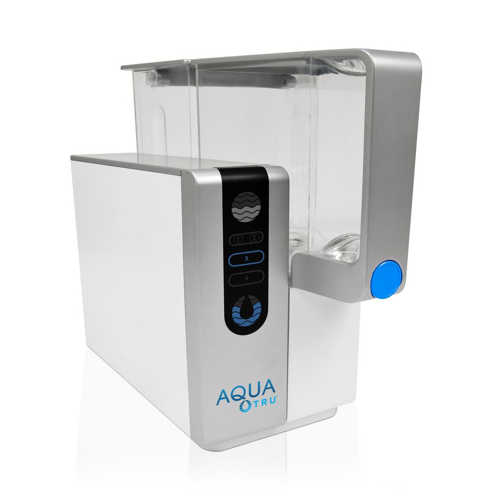 Aquatru Reverse Osmosis Counter Top Water Filtration System With Bpa Free Clean Water Tank At2000 Countertop Water Filter Water Filtration System Reverse Osmosis Water Filter