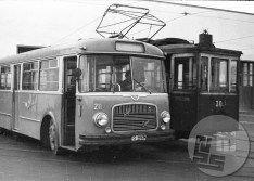 Trolejbus in tramvaj (Foto: Edi Šelhaus). / Trolleybus and the tram (photo: Edi Šelhaus).