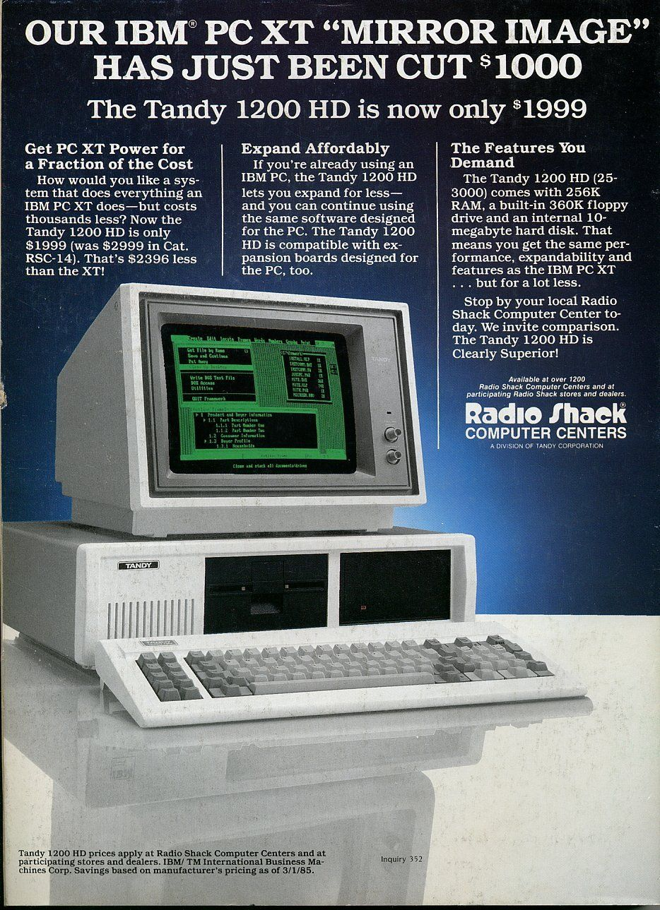 The first computer I ever used was a (RadioShack) Tandy  I'm