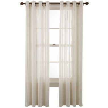 candid stripe grommettop sheer panel found at double curtain rods