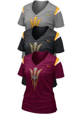 c1bfd5bd Product: Arizona State University Women's Football T-Shirt - Nike ...