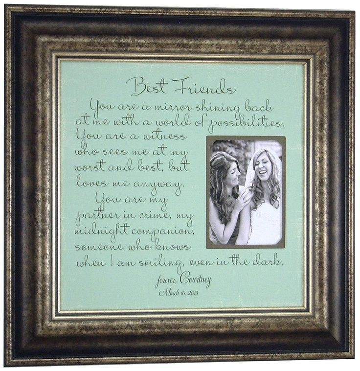 Best Friends Gift Custom Wedding Frame Bridesmaid You Are A Mirror Shining Back At Me Sister Maid Of Honor Thank 16 X
