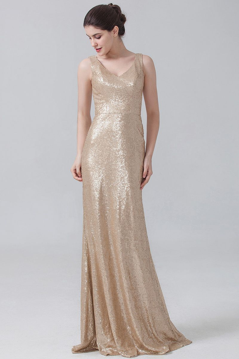 Glitzy glam gold bridesmaid dress from forherandforhim that will glitzy glam gold bridesmaid dress from forherandforhim that will wow all your guests ombrellifo Image collections