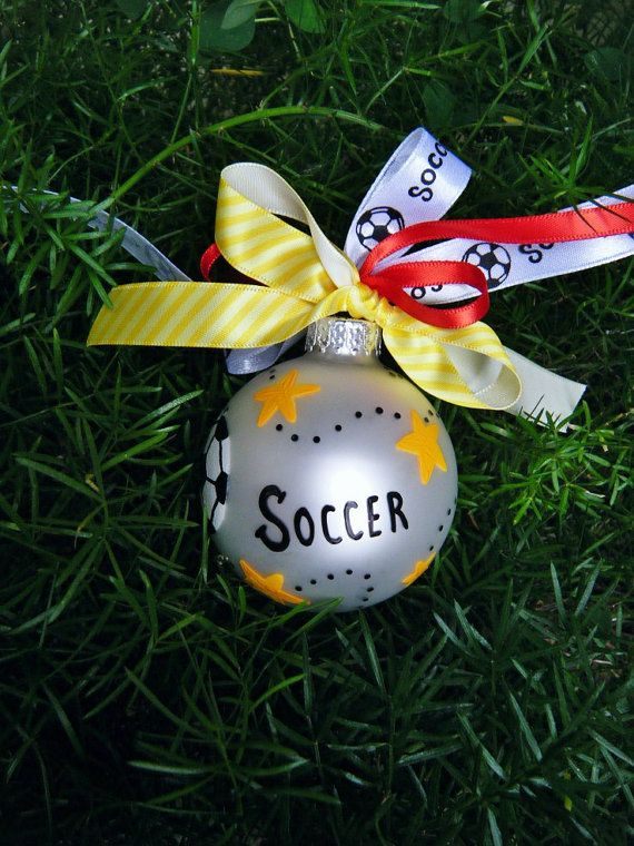 Personalized Soccer Ornament Soccer Ball by BrushStrokeOrnaments ...