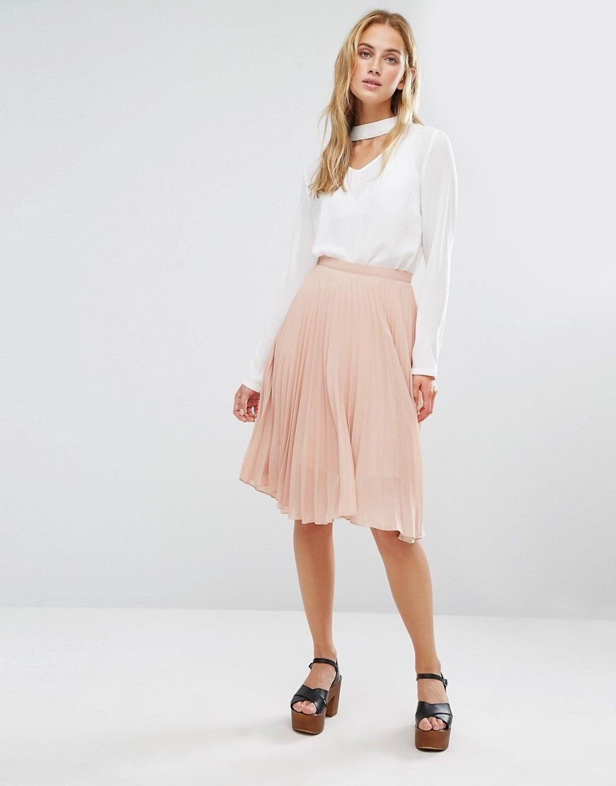Image 1 of Fashion Union Midi Skirt In Pleated Fabric