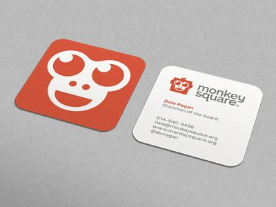 Monkey Square Business Card business cards Pinterest Business