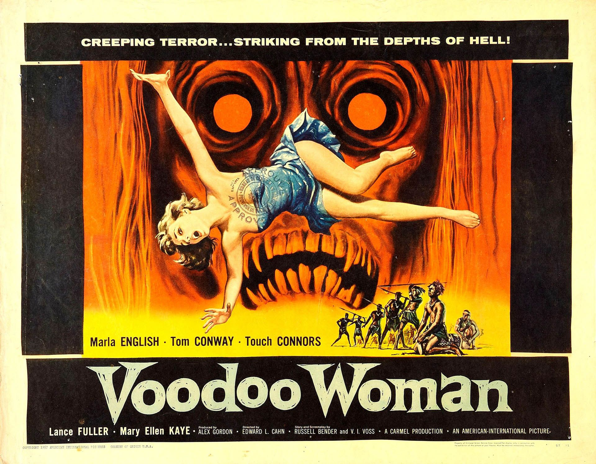 Excellent Movie Poster Design For Voodoo Woman Loving This Strange Cool Image Saved Here As A Wallpaper