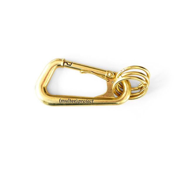 Multee Project type-1 carabiner / brass