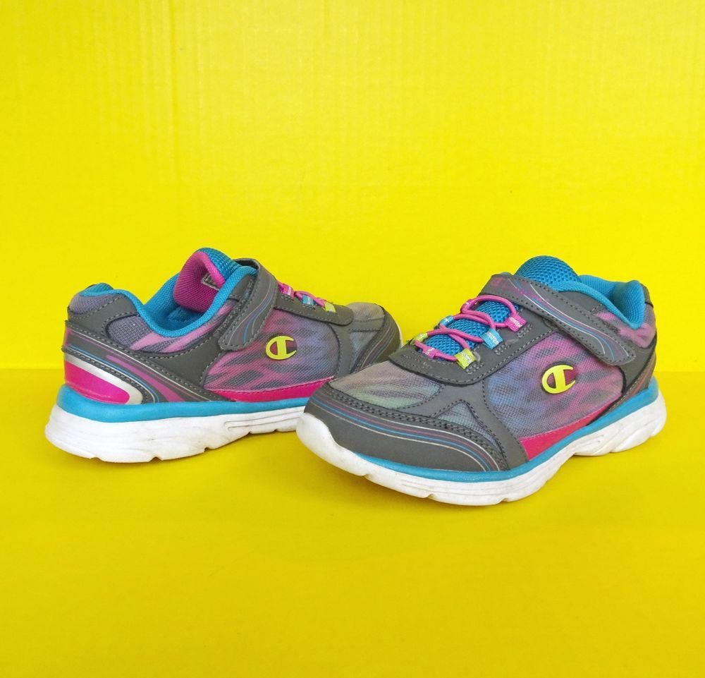 96e16d397 Girls Running Athletic Shoes 2.5 34.5 Lightweight Static Slip On Tennis  Sneakers  Champion  Athletic