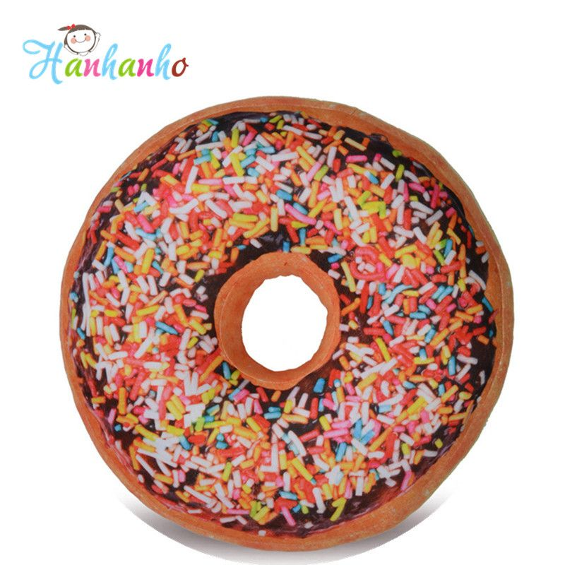 3D 40cm Simulation Doughnut Round Cushion Home Decoration Food Toy Pillows Kids Gift //Price: $US $19.99 & FREE Shipping //     #toyz24