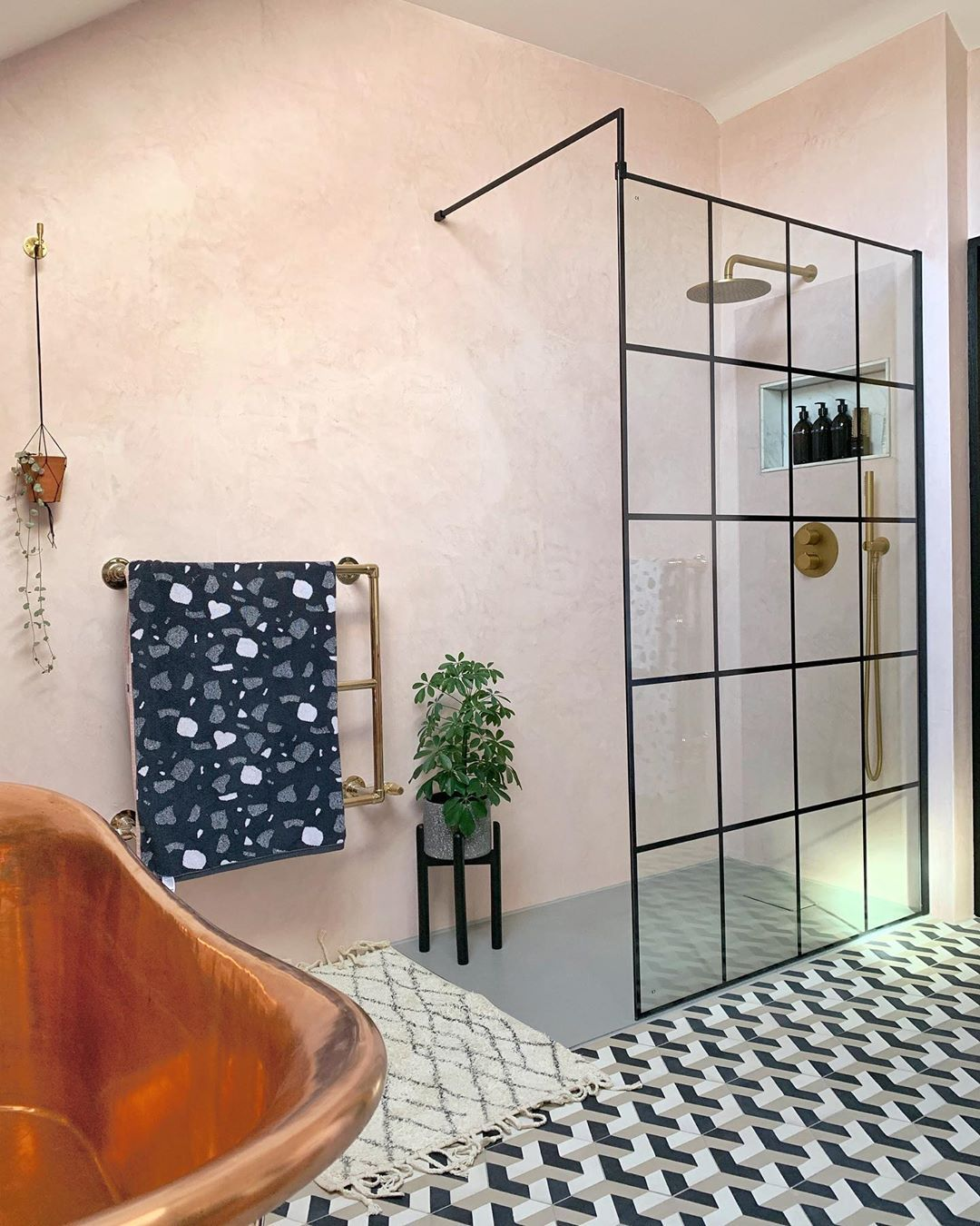 Marisa And Chris On Instagram Quite Disappointed That My En Suite Is The Wrong Shape To Get The In 2020 Cement Tiles Bathroom Concrete Bathroom Bathroom Floor Tiles