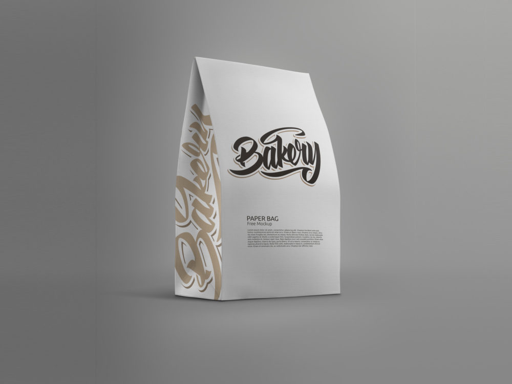 Download Standing Paper Bag Mockup Free Mockup Bag Mockup Paper Bag Design Free Mockup