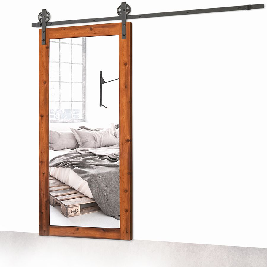 Porte coulissante sliding door bois miroir mirror wood for Miroir de porte
