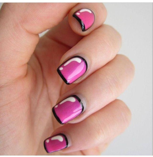 New trend alert pop art nails make andy warhol proud ladies pop art nails make andy warhol proud ladies prinsesfo Choice Image