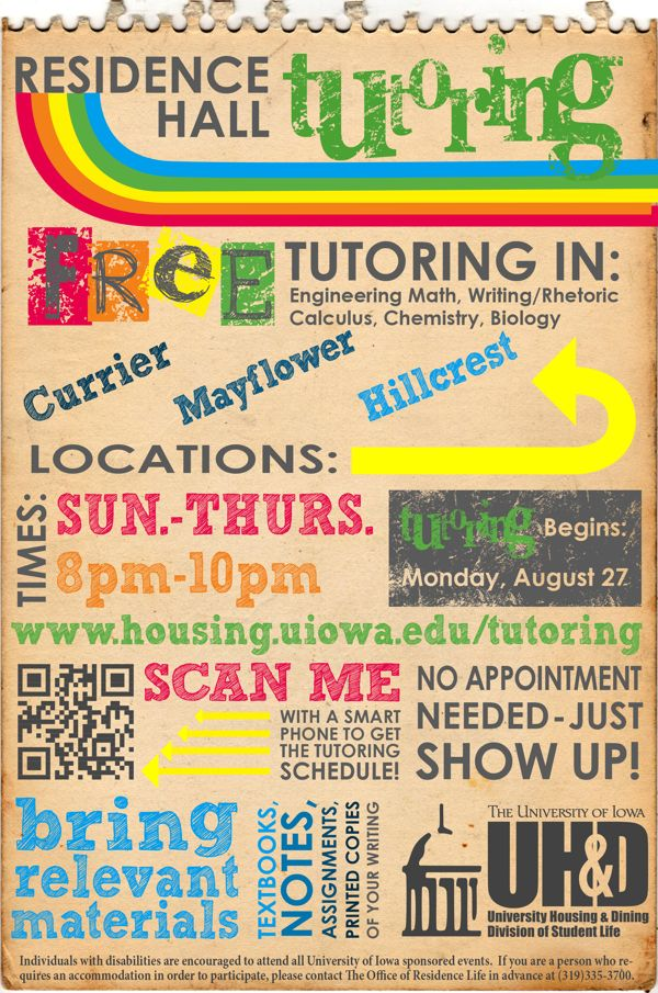 Tutoring Flyer By Tiffany Clemens Via Behance  Cm Ideas And