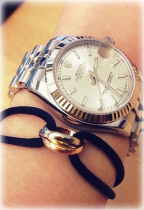Luv Cartier Trinity Bracelet With Rolex Datejust