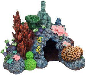 Exotic Environments Caribbean Living Reef Aquarium Ornament