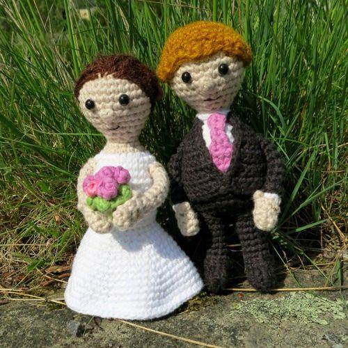 Free Amigurumi Wedding Couple Pattern : Free amigurumi pattern bridal couple crochet animal