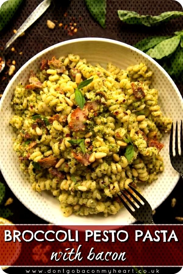Broccoli Pesto Pasta with Bacon Broccoli Pesto is the twist on pesto you never knew you needed. Roa