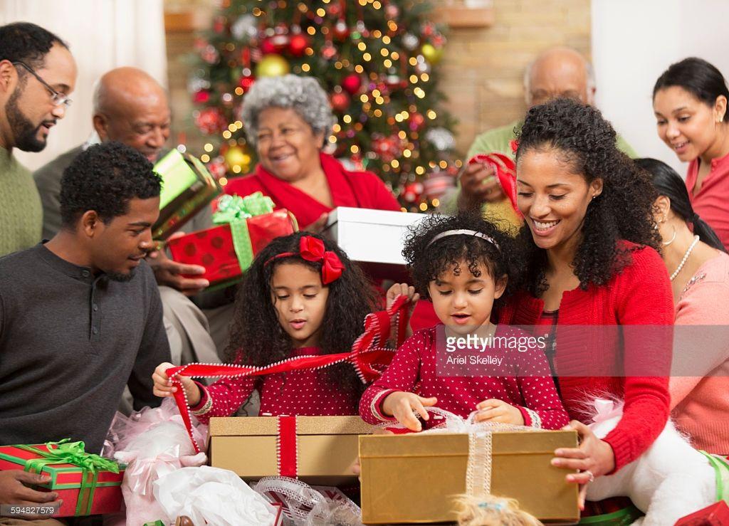 Family opening presents at Christmas | Fun holiday gift ...