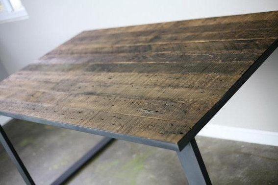 Dining Table/Desk Made Of Vintage Reclaimed Wood U0026 By Leecowen