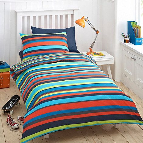 Best Bluezoo Kid S Blue Bright Stripe Bedding Set 400 x 300