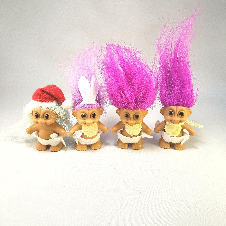 Vintage Russ Berrie & Co Troll Doll 5 Easter Egg