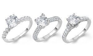 1 50 Cttw Or 1 75 Cttw Diamond Rings In 14k White Gold From 1 799 99 2 199 99 White Gold Diamond Rings Rings
