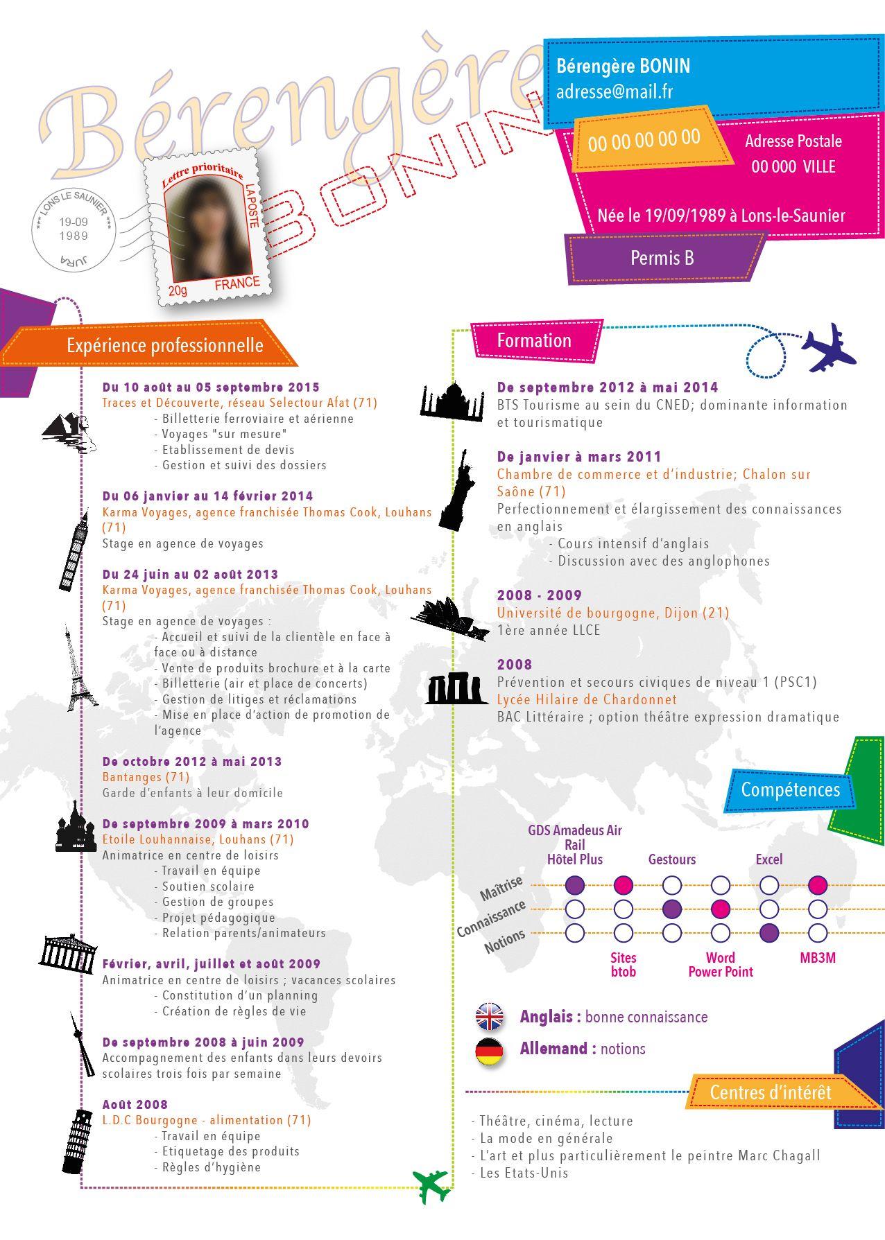 Refonte Cv Secteur Tourisme Tourisme Bts Gestion