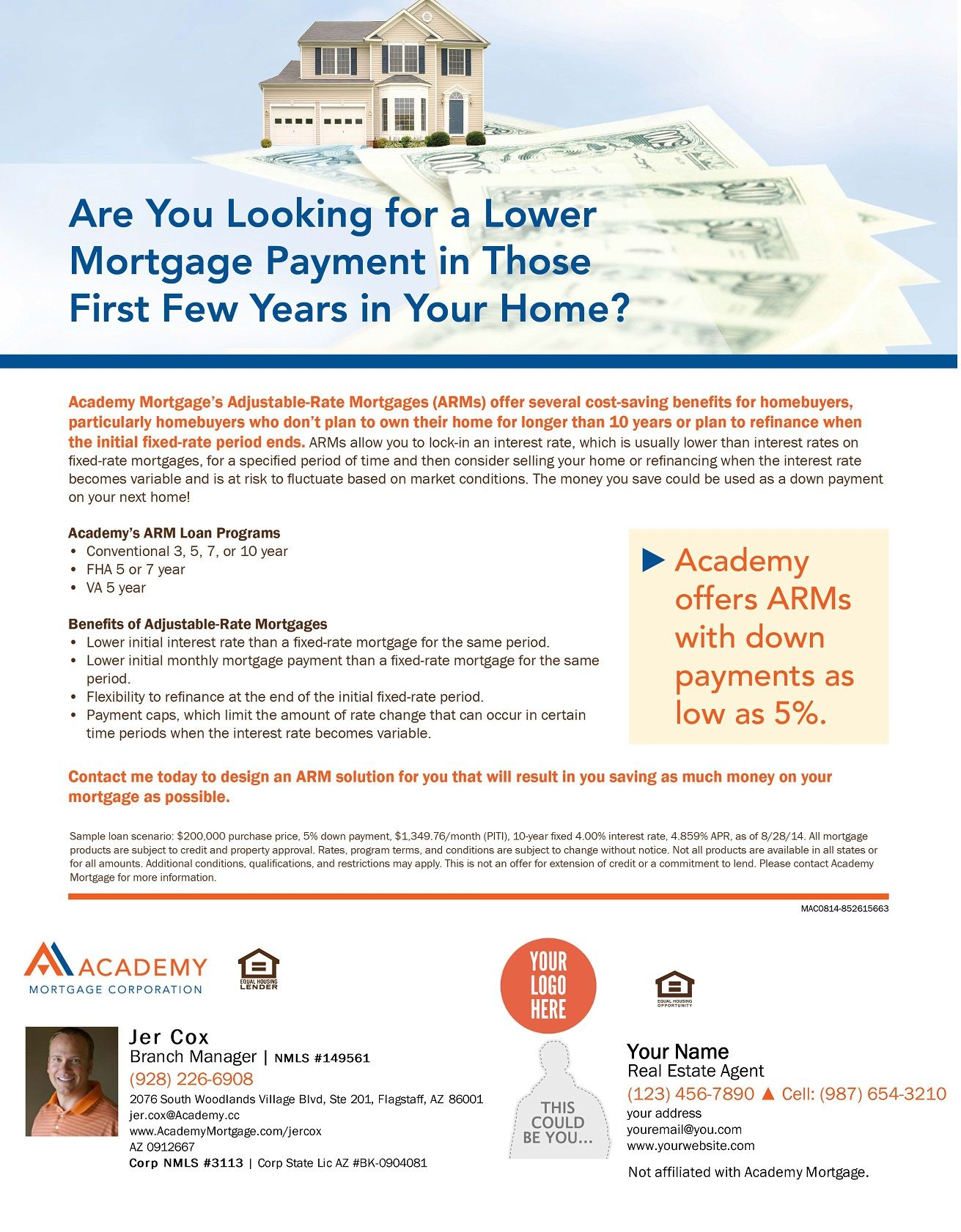 Arms Co Branded Mortgage Payment Home Buying How To Plan