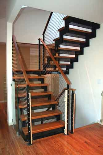Best Cable Rail Basic Stairs Floating Stairs Stairs 400 x 300