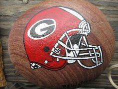 UGA Helment paperweight