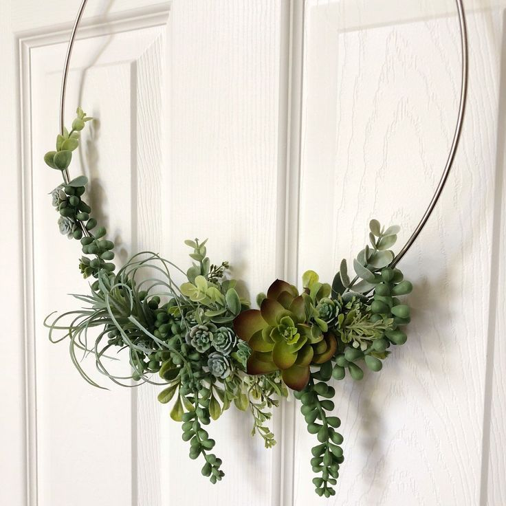 Photo of Excited to share this item from my #etsy shop: 14″ Succulent Wreath, Modern Hoop… – Modern