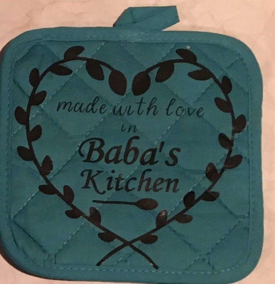 Personalized Pot holder Hot pad Baba's Kitchen Nan