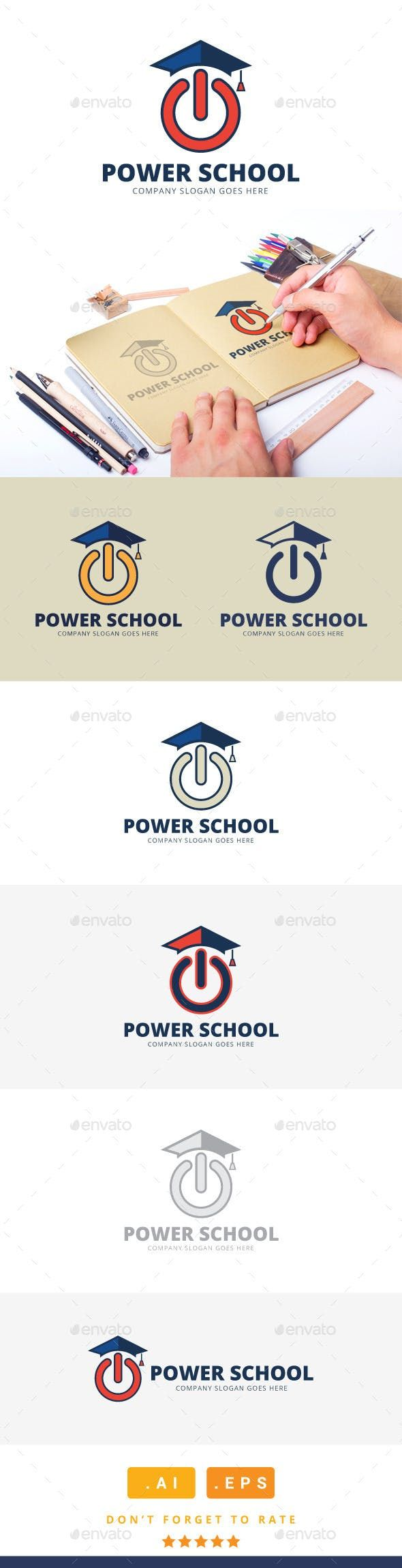Power School Logo College Logo Templates Power school