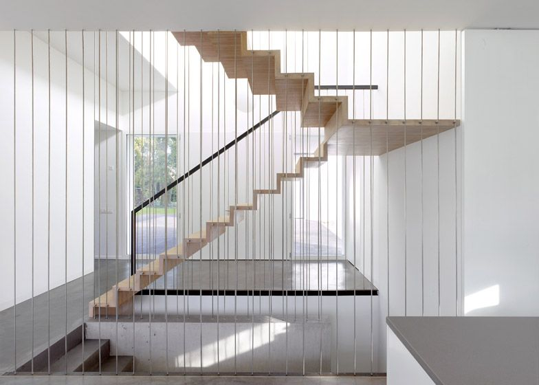 Interior shot of a house designed to function like a bridge ...