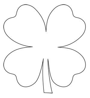 Shamrock Chain Free Four Leaf Clover Applique Pattern Applique
