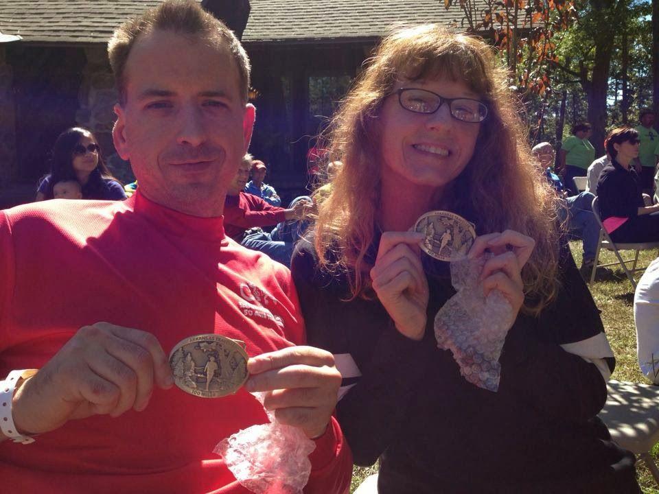 Kathy's my hero....: 100 miles