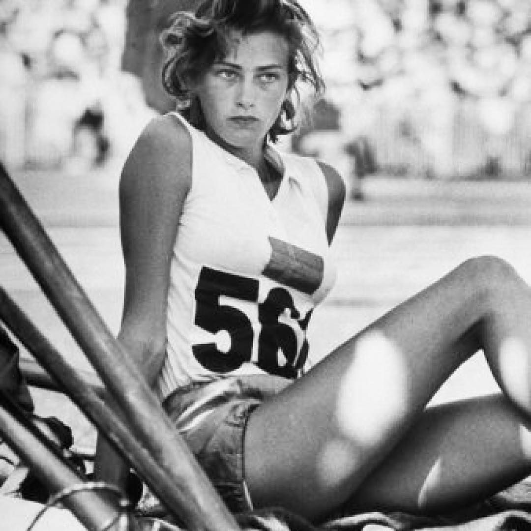 Athletes and sports are a constant inspiration: Sweden's Gunhild Larking resting at the 1956, Melbourne #Olympics. #TMinspiration #tomasmaier