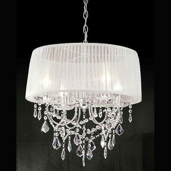 Lampara ara a de cristal con pantalla lamps pinterest - Lamparas arana modernas ...