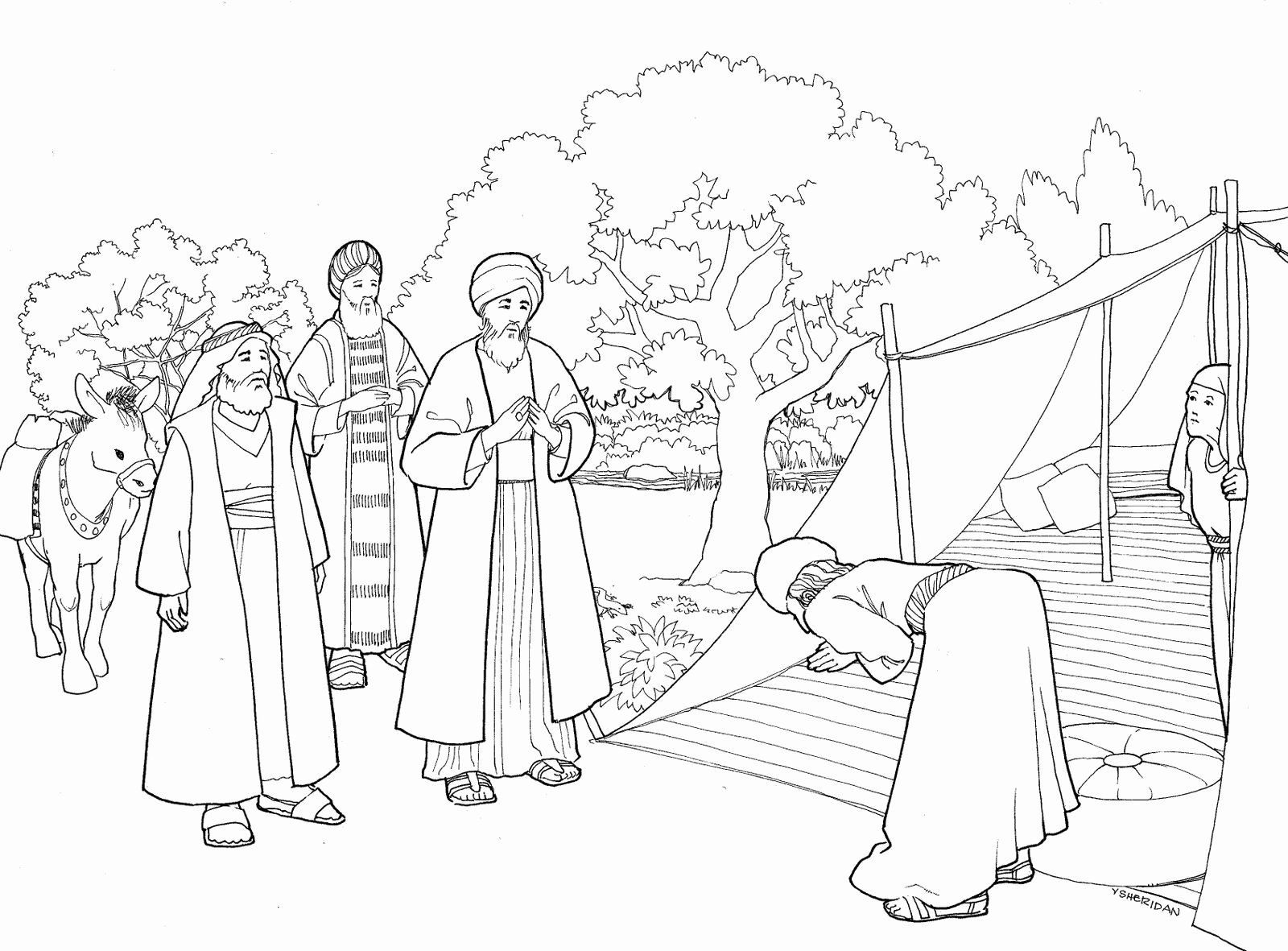 Coloring Activities For Third Graders Inspirational Abraham And Three Visitors Coloring Pa Bible Coloring Pages Tree Coloring Page Sunday School Coloring Pages