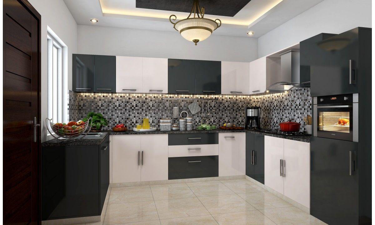 Pantry Unit With Integrated Micowave  Final  Pinterest  Yin Impressive Modular Kitchen U Shaped Design Design Decoration