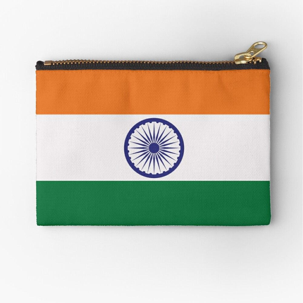 India S National Flag Zipper Pouch By Suesakpal In 2020 National Flag Pouch Flag