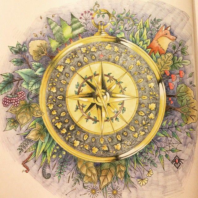 Rosa Dos Ventos Floresta Encantada Johanna Basford Livro