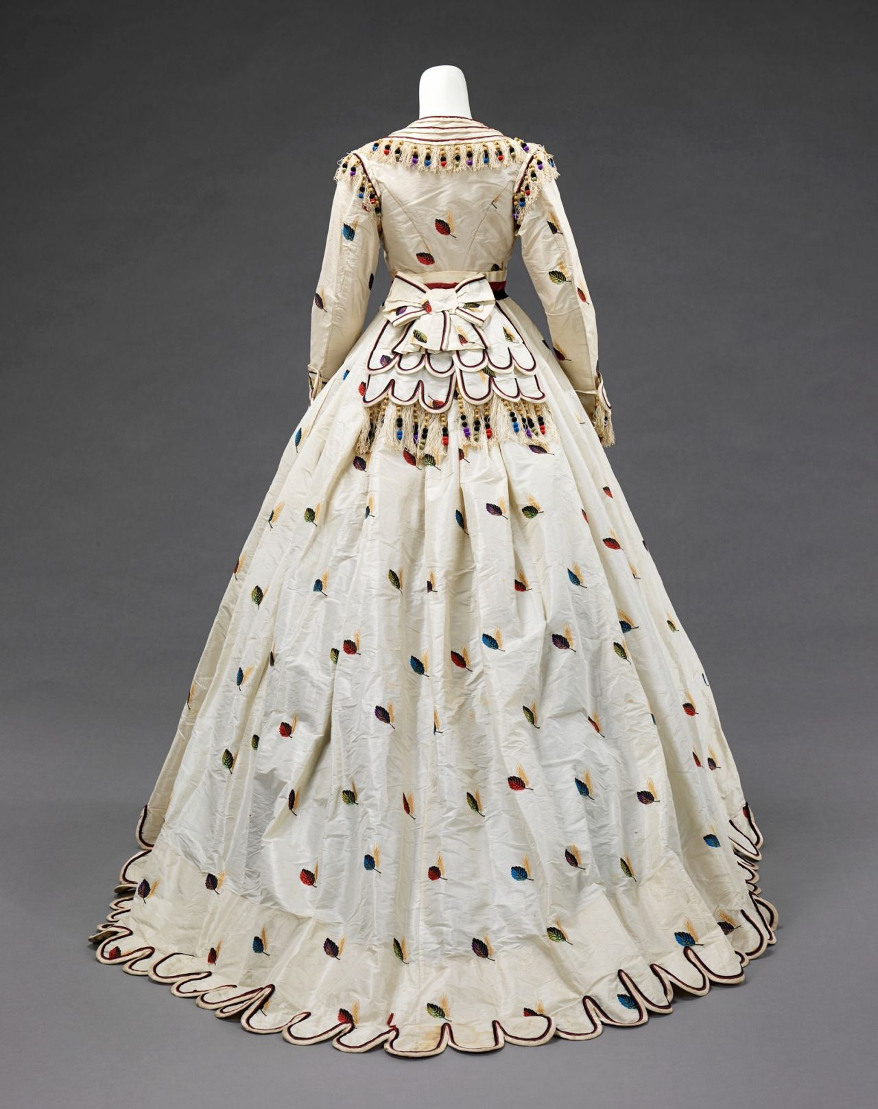 "ephemeral-elegance: "" Evening Ensemble with Alternate Bodices, ca. 1875 Texier St. Engley """