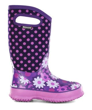 Plum Classic Flower Dots Boot - Kids