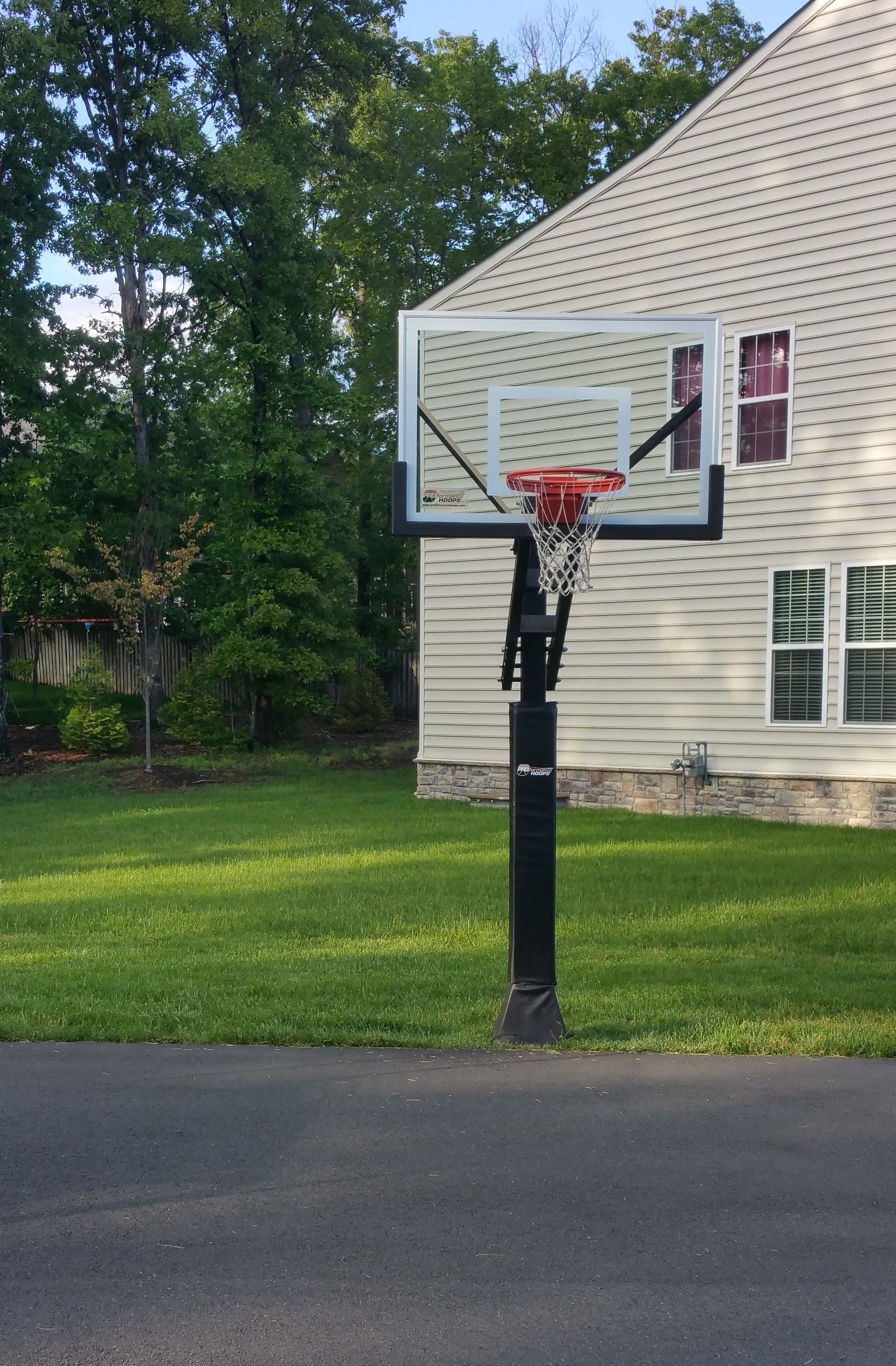 Basketball Hoop Installed On A Driveway Court Basketball Hoop Basketball Hoops