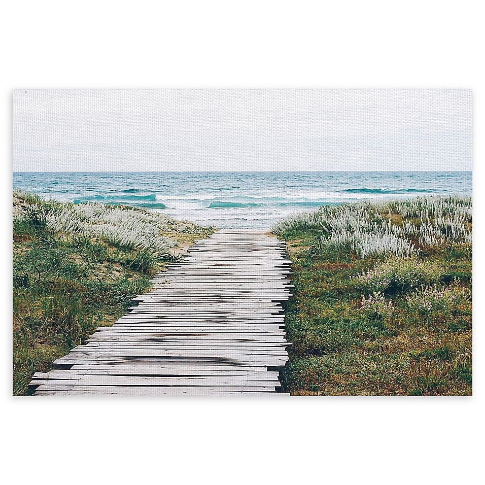 Masterpiece Art Gallery Beach Path 22 X 28 Canvas Wall Art Multi